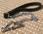 Exclusive HS dog lead with leather handle-dog leash