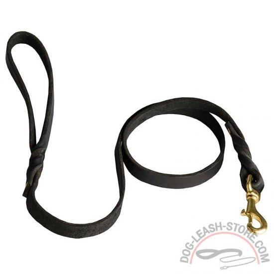 Extra Strong Leather Dog Leash