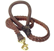 Braided Leather Dog Leash 4 foot-Braided Lead all dogs
