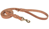Braided Latigo Leather Dog Leash Multifunctional