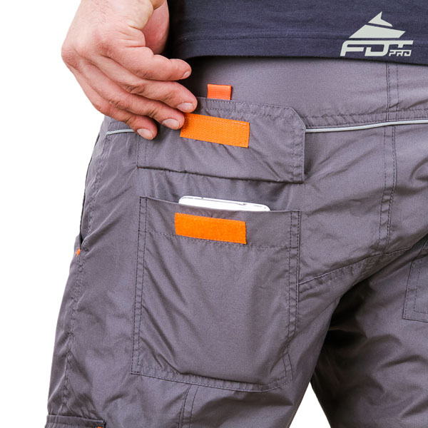 Comfy Design Professional Pants with Reliable Side Pockets for Dog Training