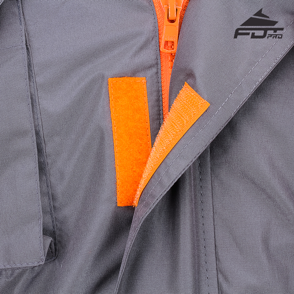 Durable Velcro Patches on Dog Tracking Jacket for Handy Use