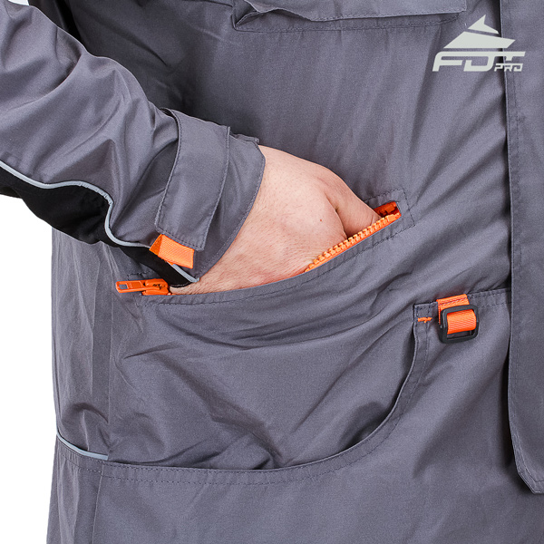 Professional Dog Tracking Jacket with Side Pockets for Any Weather Use