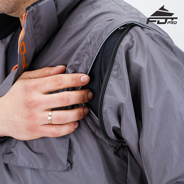 Durable Zipper on Sleeve for Pro Design Dog Tracking Jacket