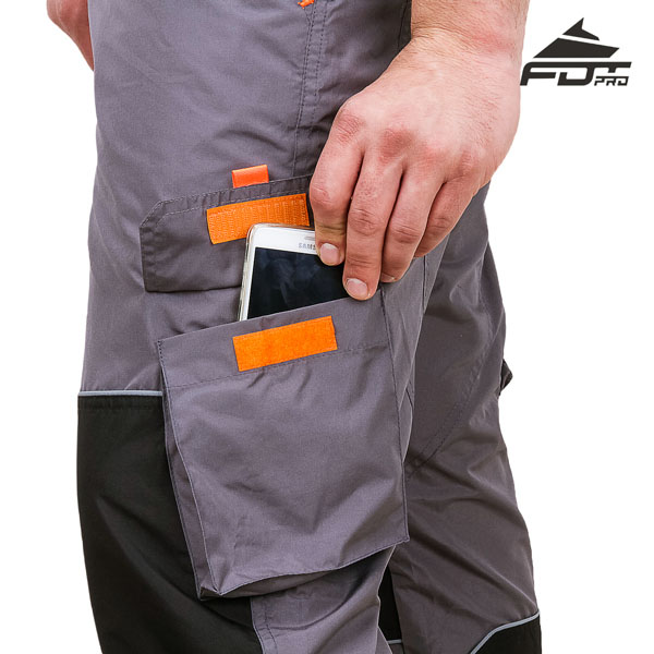 FDT Professional Design Dog Trainer Pants with Comfortable Velcro Side Pocket
