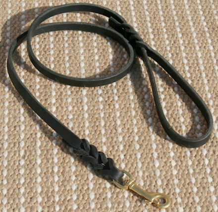 leather dog leash for walking , tracking , training