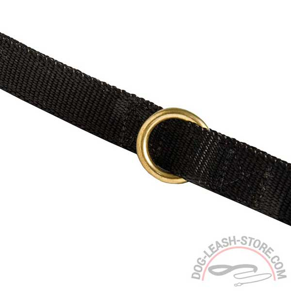 Rust Resistant Brass Floating Ring of Nylon Dog Leash