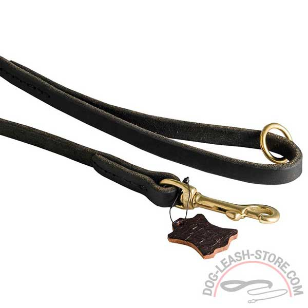 Rust Resistant Brass Hardware of Leather Dog Lead