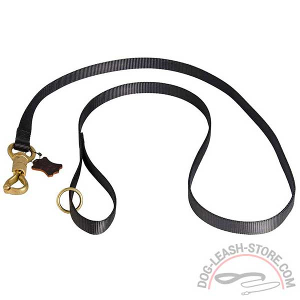 Nylon Dog Lead Equipped with Brass Floating Ring