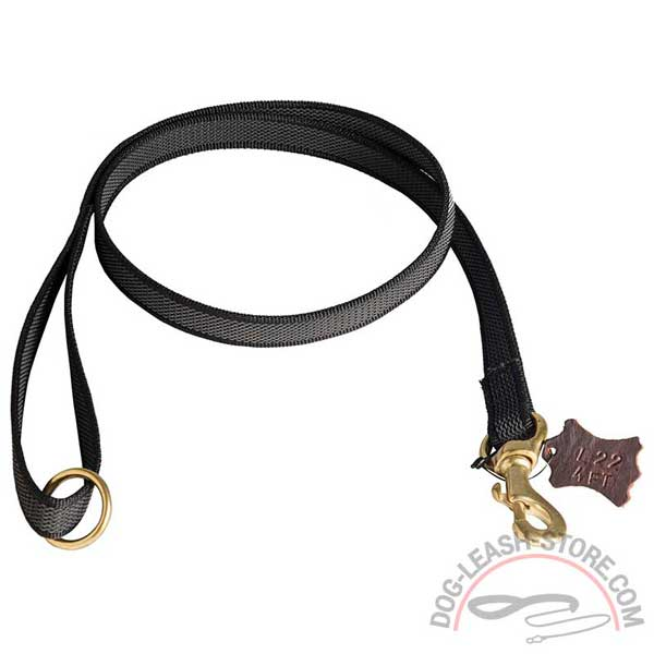 Nylon Training Dog Lead with Floating Ring