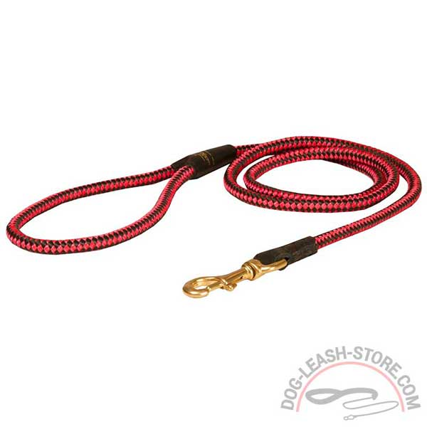 Dog Nylon Leash with Brass Snap Hook