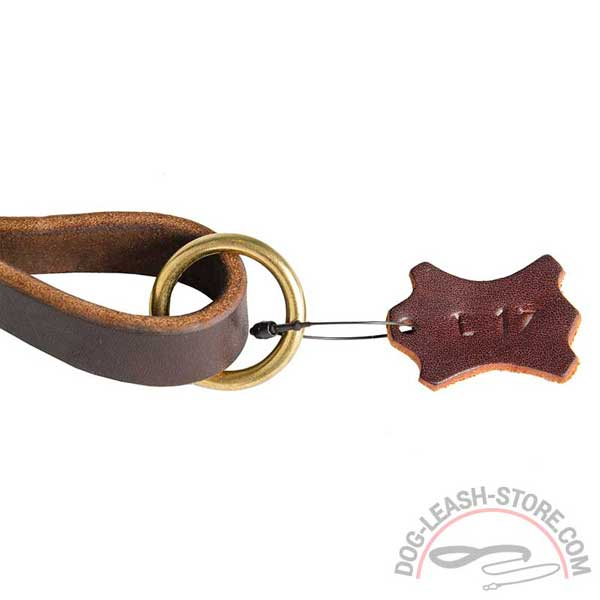 O-Ring Brass Floating of Leather Dog Leash
