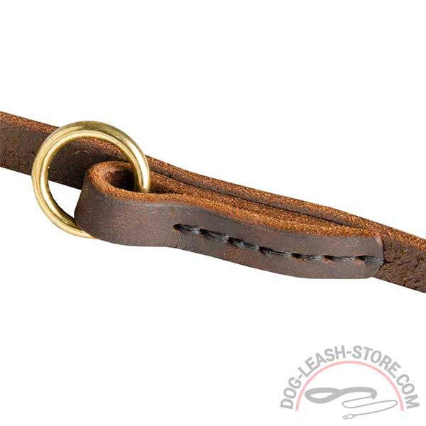 Stitched Leather Part of Dog Leash