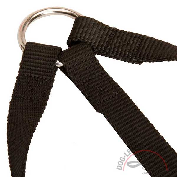 Triple Nylon Dog Coupler with Stitching
